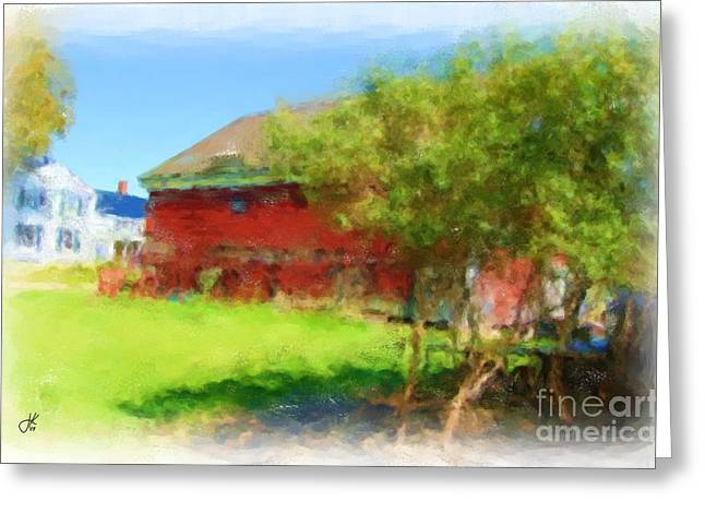 Maine Farms Paintings Greeting Cards - Farm 1086 20141006 Greeting Card by Julie Knapp