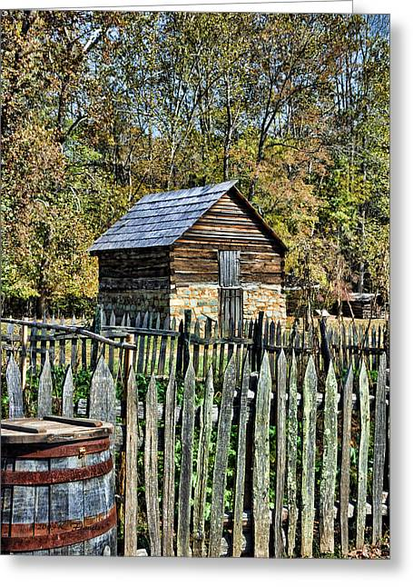 Farm Building Greeting Card by Kenny Francis
