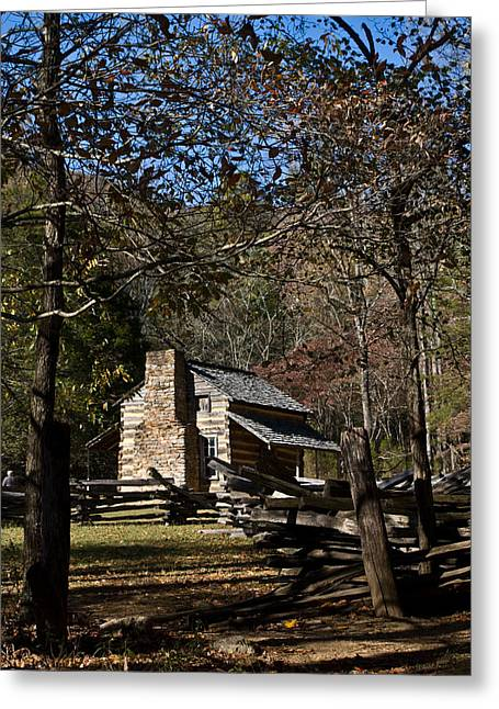 Tennessee Farm Greeting Cards - Farm Cabin Cades Cove Tennessee Greeting Card by Douglas Barnett