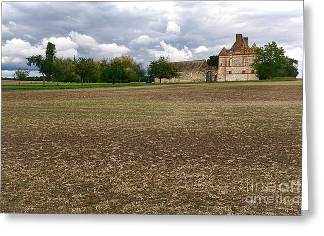 Compounds Greeting Cards - Farm Castle Greeting Card by Olivier Le Queinec