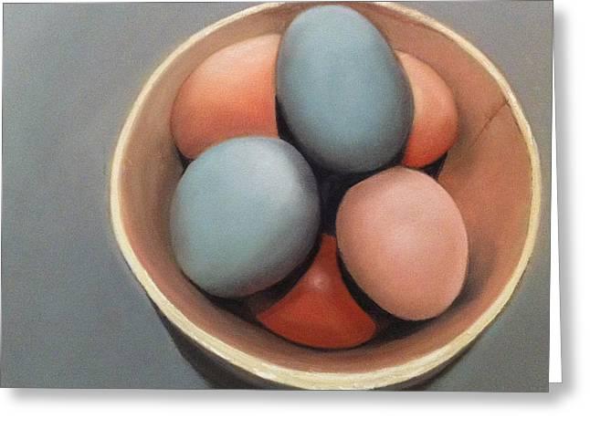 Clutch Greeting Cards - Farm Eggs Greeting Card by Cristine Kossow
