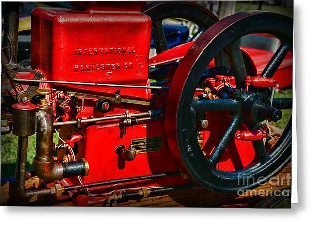 Farm Equipment - International Harvester Feed And Cob Mill Greeting Card by Paul Ward