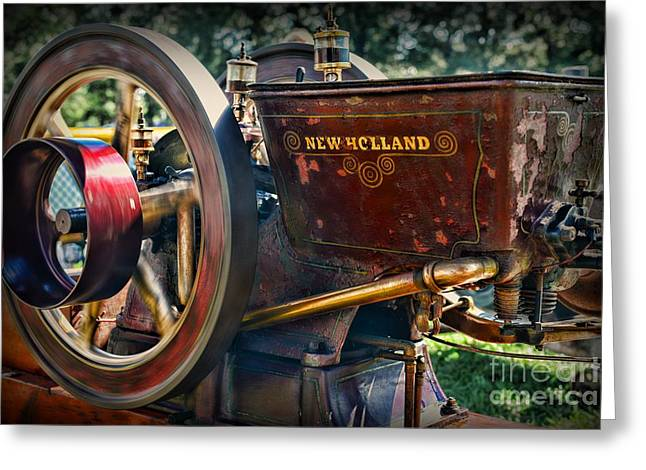 Farm Equipment - New Holland Feed And Cob Mill Greeting Card by Paul Ward