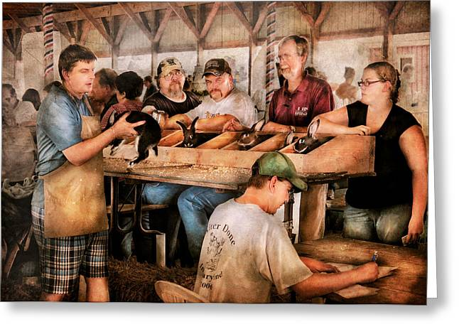 Farm - Farmer - By the pound Greeting Card by Mike Savad