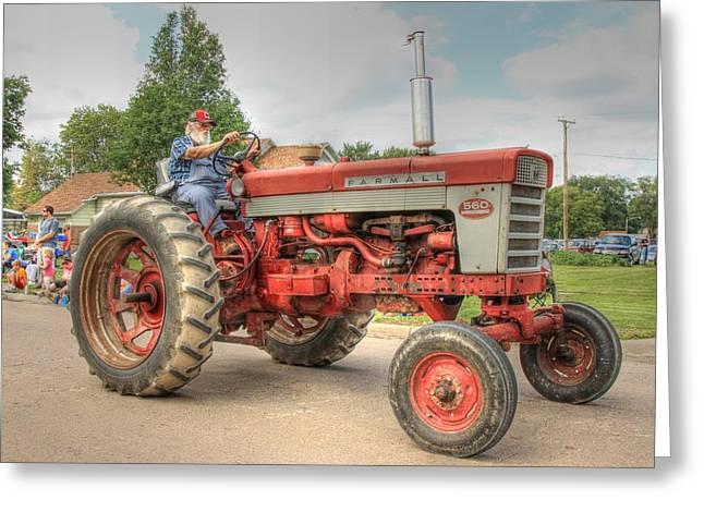Unrestored Greeting Cards - Farm Fresh Farmall 560 Greeting Card by J Laughlin