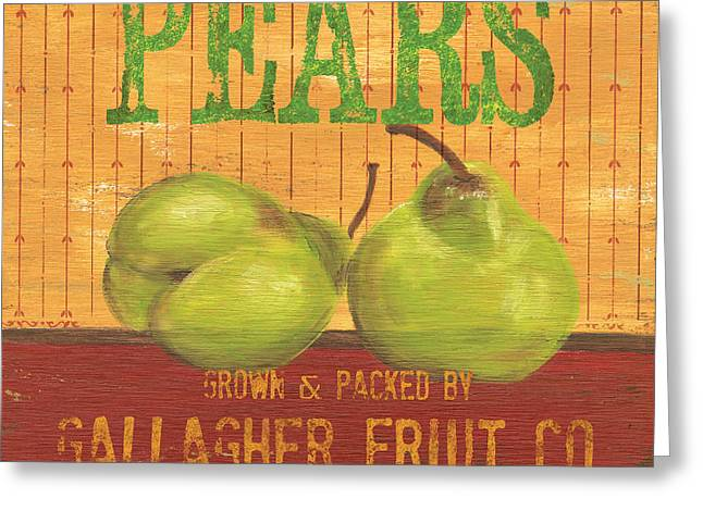 Distressed Greeting Cards - Farm Fresh Fruit 1 Greeting Card by Debbie DeWitt
