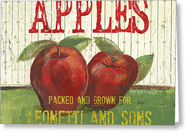 Distressed Greeting Cards - Farm Fresh Fruit 3 Greeting Card by Debbie DeWitt