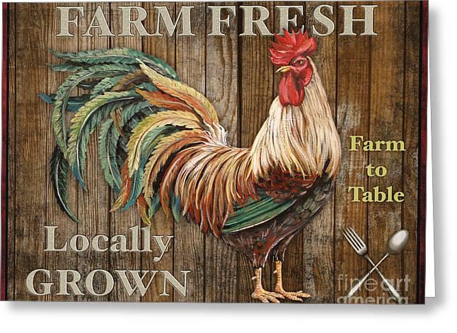 Lettuce Digital Greeting Cards - Farm Fresh-JP2127 Greeting Card by Jean Plout