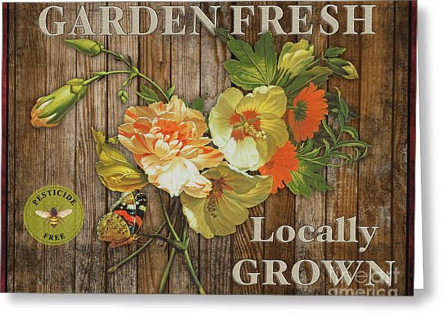 Lettuce Digital Greeting Cards - Farm Fresh-JP2129 Greeting Card by Jean Plout