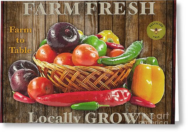 Lettuce Digital Greeting Cards - Farm Fresh-JP2132 Greeting Card by Jean Plout