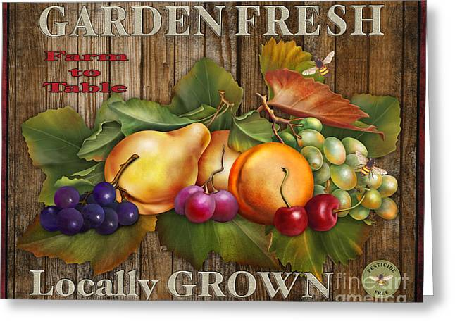Lettuce Digital Greeting Cards - Farm Fresh-JP2133 Greeting Card by Jean Plout