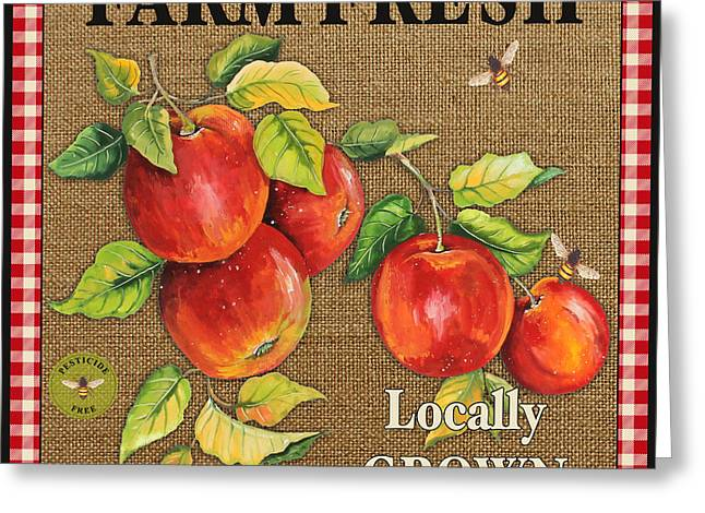 Locally Grown Digital Art Greeting Cards - Farm Fresh-JP2380 Greeting Card by Jean Plout