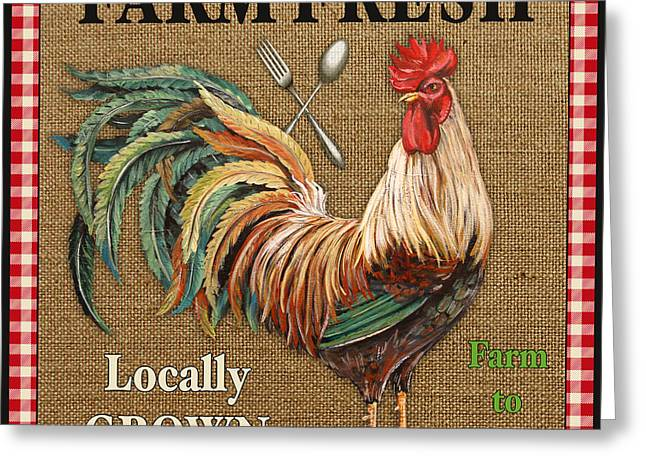 Locally Grown Digital Art Greeting Cards - Farm Fresh-JP2382 Greeting Card by Jean Plout