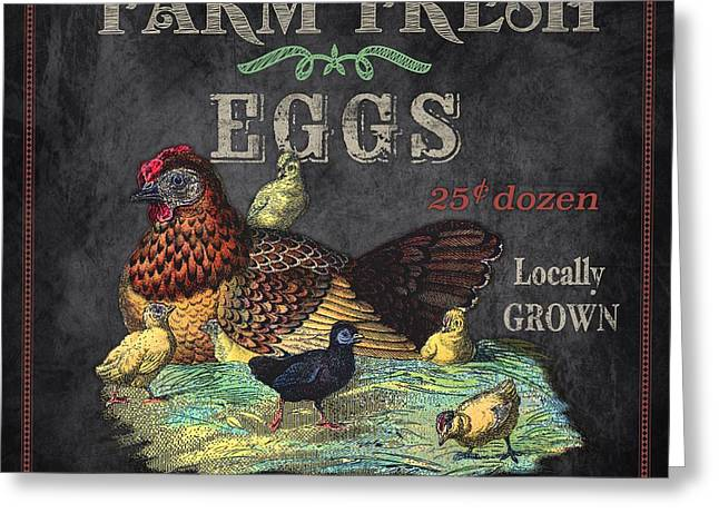 Locally Grown Digital Art Greeting Cards - Farm Fresh-JP2636 Greeting Card by Jean Plout