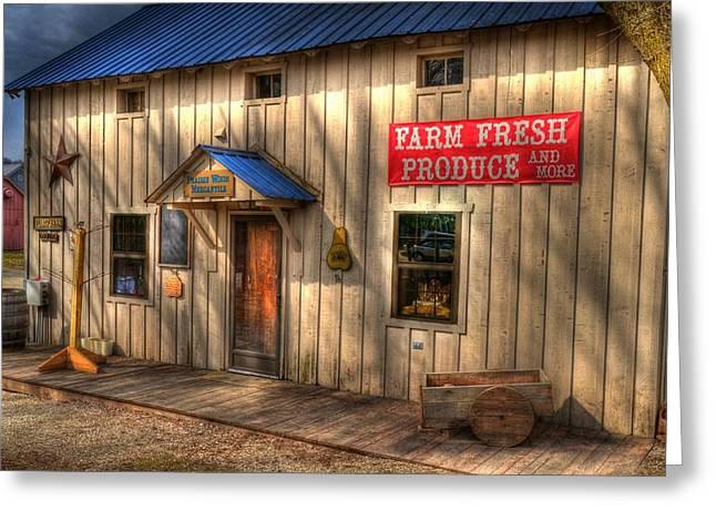 Indiana Scenes Greeting Cards - Farm Fresh Produce Greeting Card by Mel Steinhauer