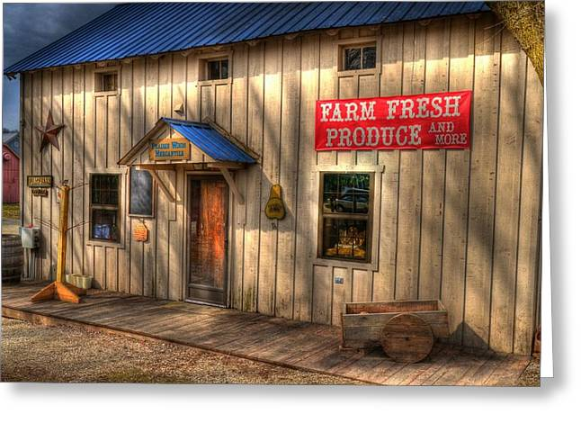 Southern Indiana Greeting Cards - Farm Fresh Produce Greeting Card by Tri State Art