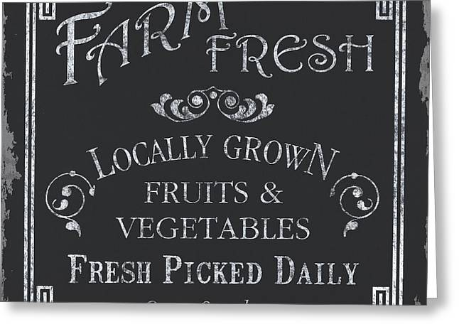 Pie Greeting Cards - Farm Fresh Sign Greeting Card by Debbie DeWitt