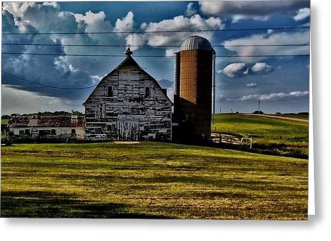 Wooden Building Mixed Media Greeting Cards - Farm Hdr Greeting Card by Todd and candice Dailey