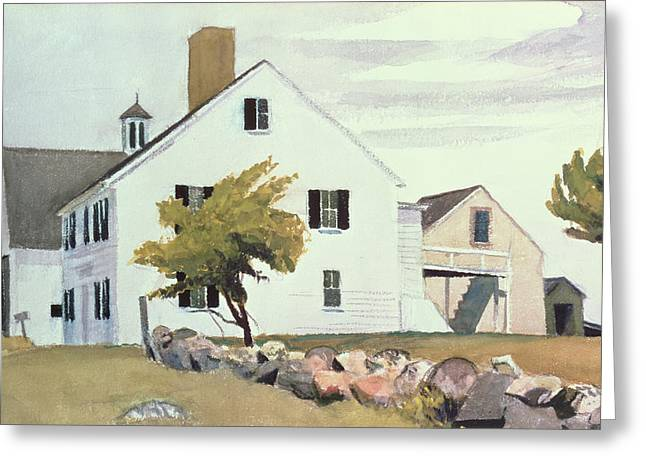 Ma Greeting Cards - Farm House at Essex Massachusetts Greeting Card by Edward Hopper