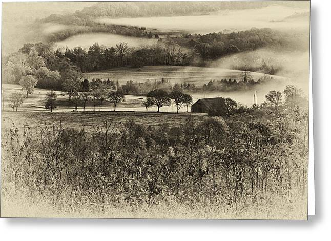 Natchez Trace Parkway Greeting Cards - Farm House on the Natchez Trace Greeting Card by Steve Munoz