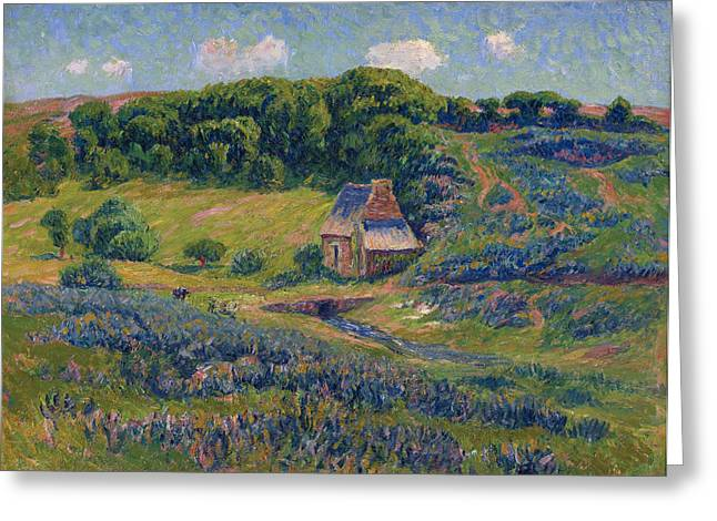 Moret Greeting Cards - Farm in Bretonne Campagne Greeting Card by Henry Moret