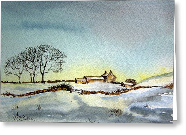 Jean Walker Greeting Cards - Farm in N.E Yorkshire Greeting Card by Jean Walker