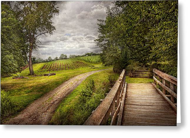 Farm - Landscape - Jersey Crops Greeting Card by Mike Savad