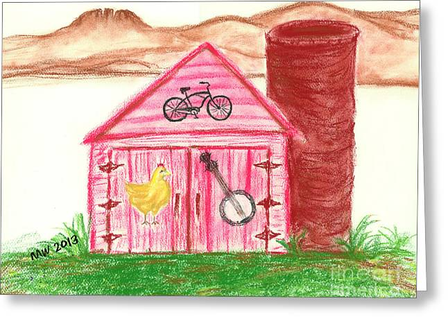 Farming Pastels Greeting Cards - Farm Life Feeds Us All Greeting Card by Michelle Wolff