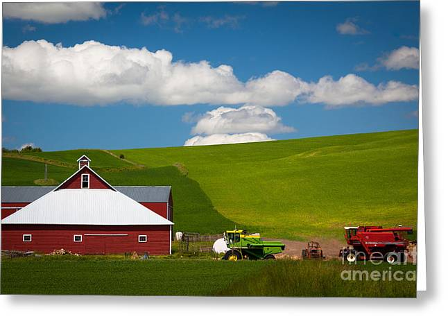 Farm Machinery Greeting Card by Inge Johnsson
