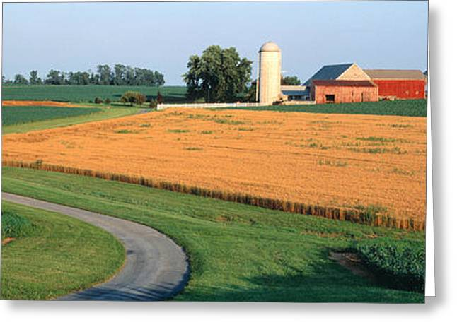 Rotation Photographs Greeting Cards - Farm Nr Mountville Lancaster Co Pa Usa Greeting Card by Panoramic Images