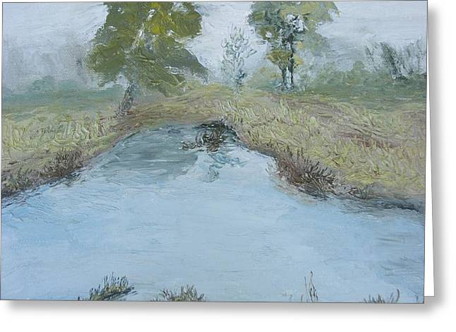 Farm Pond Greeting Card by Dwayne Gresham