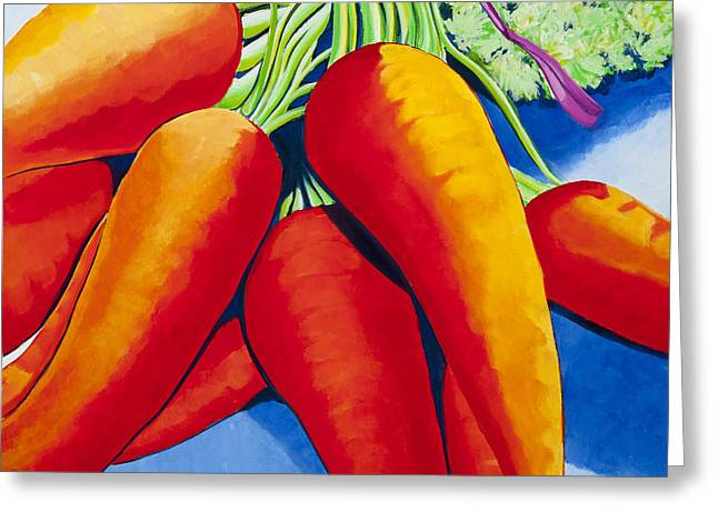Local Food Paintings Greeting Cards - Farm Share Day Greeting Card by Amy McKay