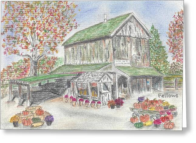 Farm Stand Pastels Greeting Cards - Farm Stand Greeting Card by Florence Fellows