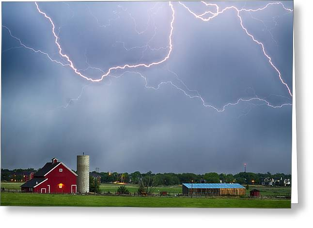 The Nature Center Greeting Cards - Farm Storm HDR Greeting Card by James BO  Insogna
