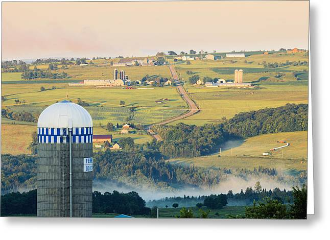 Farm Structure Greeting Cards - Farm Structure And Landscape Greeting Card by Yves Marcoux
