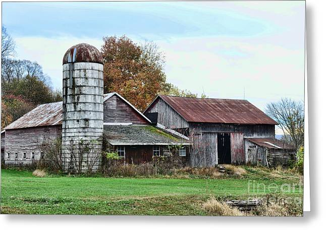 Harvest Art Greeting Cards - Farm - The Old Barn Greeting Card by Paul Ward