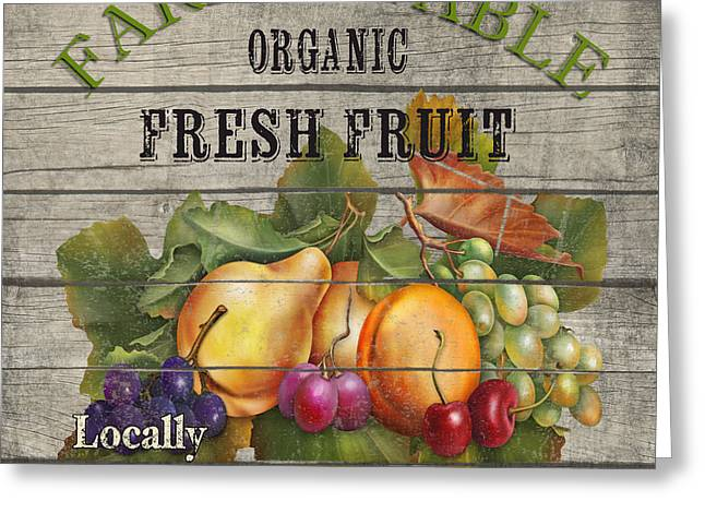 Locally Grown Digital Art Greeting Cards - Farm to Table Fruit-JP2631 Greeting Card by Jean Plout