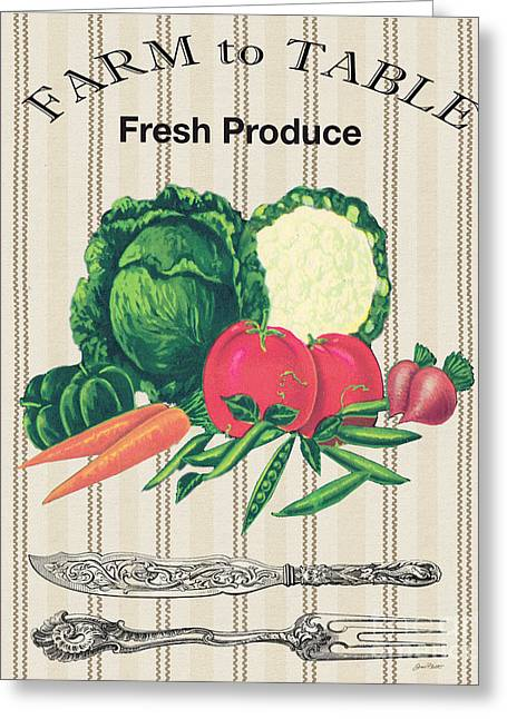 Lettuce Digital Greeting Cards - Farm to Table-JP2124 Greeting Card by Jean Plout