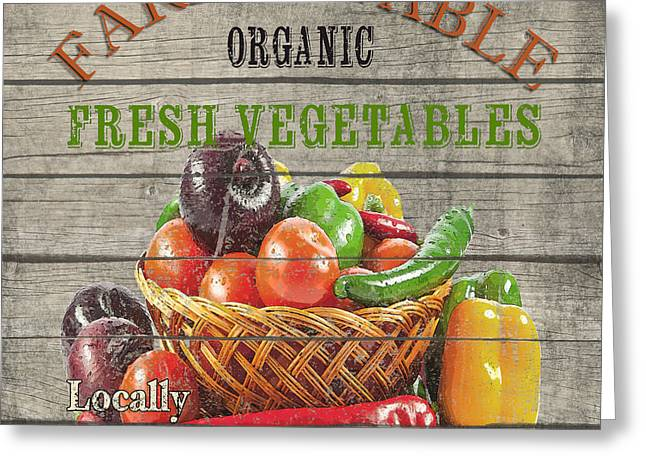 Locally Grown Digital Art Greeting Cards - Farm to Table Vegetables-JP2632 Greeting Card by Jean Plout