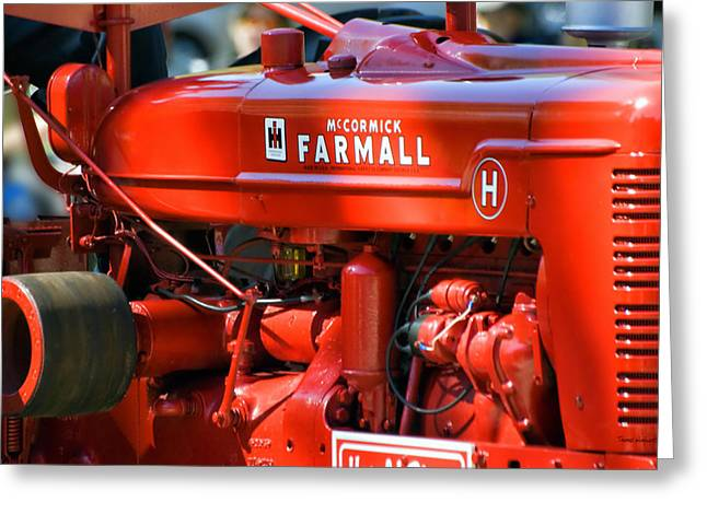 Central Il Greeting Cards - Farm Tractor 11 Greeting Card by Thomas Woolworth
