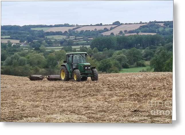 Farm Tractor Greeting Card by John Williams