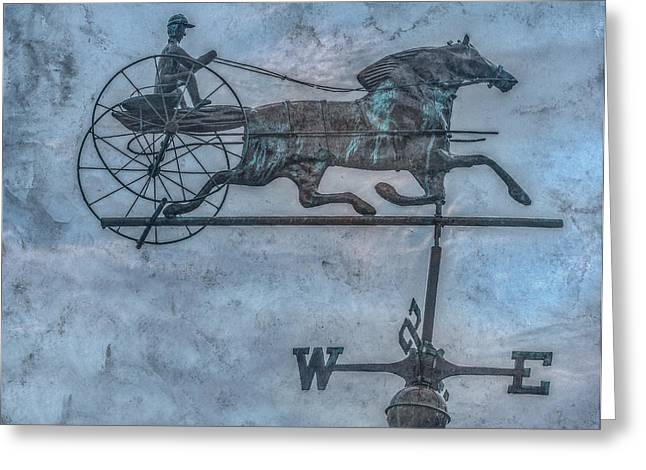 Weathervane Digital Art Greeting Cards - Farm Weathervane Greeting Card by Randy Steele
