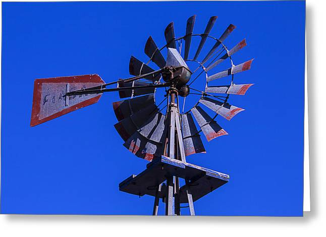 Wind Vane Greeting Cards - Farm Windmill Greeting Card by Garry Gay