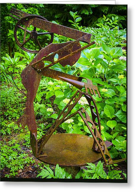 Antique Ironwork Greeting Cards - Farm Worker Greeting Card by Carolyn Marshall