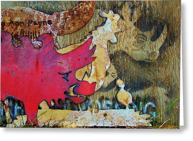 Razorbacks Photographs Greeting Cards - Farm Zoo Greeting Card by Larry Campbell
