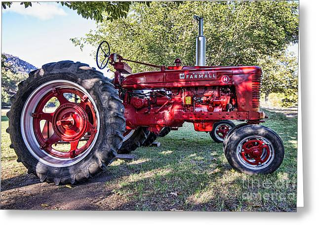 California Art Greeting Cards - Farmall -2 Greeting Card by Keith Ducker
