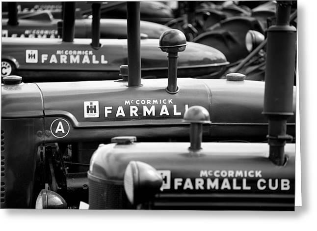 International Tractor Greeting Cards - Farmall BW Greeting Card by Patrick M Lynch