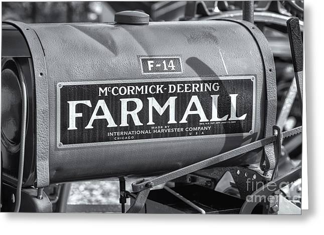 Farmall F-14 Tractor II Greeting Card by Clarence Holmes