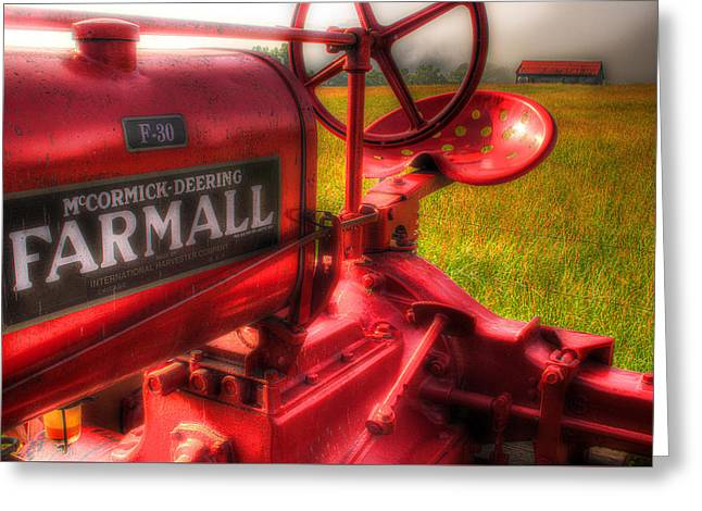 Rural Setting Greeting Cards - Farmall Morning Greeting Card by Michael Eingle