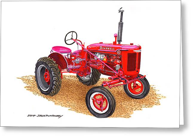 For Factory Greeting Cards - Farmall Tractor 1946 model A Greeting Card by Jack Pumphrey